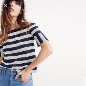 Madewell off the shoulder stripe top